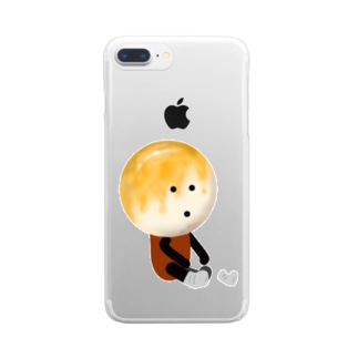 お団子団長【靴下を履く!】 Clear smartphone cases