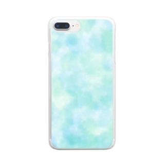 水彩ラムネ Clear smartphone cases
