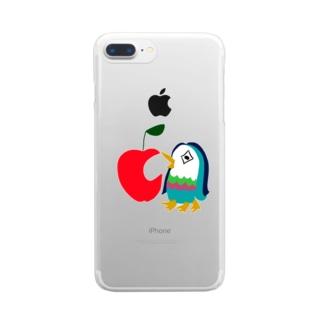 アップルアマビエ Clear smartphone cases