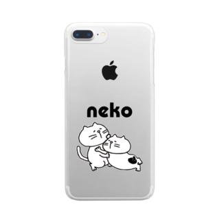 やる気のないネコ(ひしめき愛) Clear smartphone cases