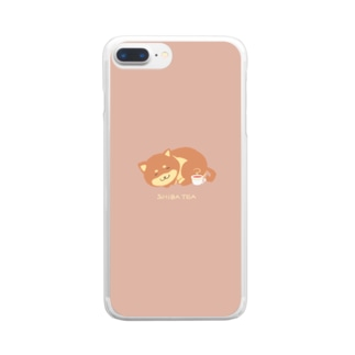 しば紅茶 Clear smartphone cases
