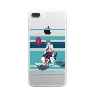 ぐさっ Clear smartphone cases