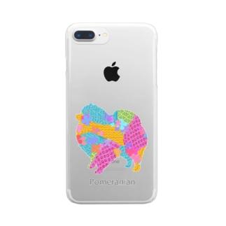 アレグリヘ ポメラニアン Clear smartphone cases
