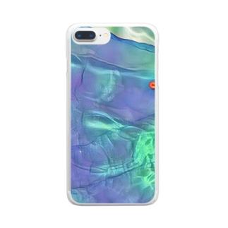 プールの水 Clear smartphone cases
