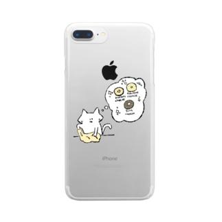 パン生地こねこネコ Clear smartphone cases
