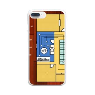 モーニングルーティン 黄 Clear smartphone cases
