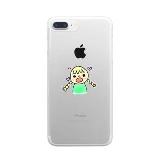 サリーちゃん Clear smartphone cases