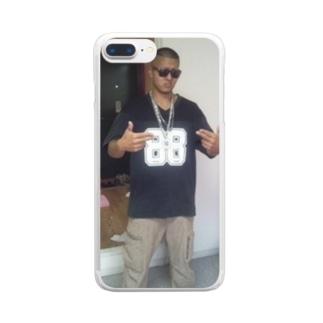 俺のガンフィンガー Clear smartphone cases