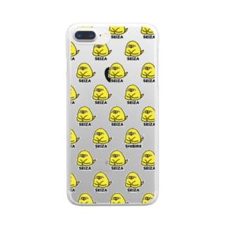 初めての正座【透明】 Clear smartphone cases