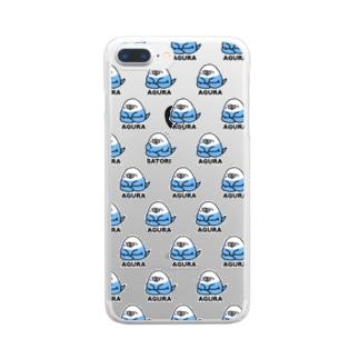 初めてのアグラ【透明】 Clear smartphone cases