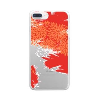 紅津軽 Clear smartphone cases