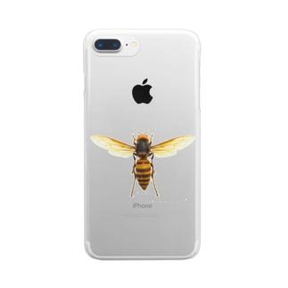 オオスズメバチ女王 Clear smartphone cases