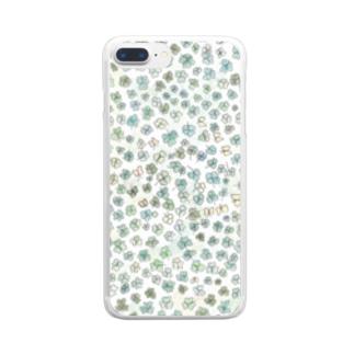 クローバーいっぱい♪ Clear smartphone cases