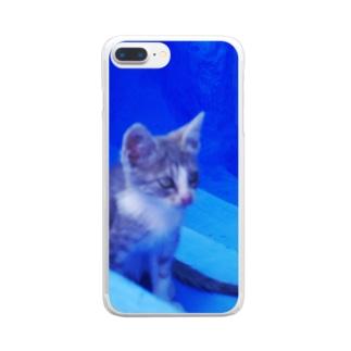 ひつじのアトリエ【公式】のモロッコでたたずむ猫さん Clear smartphone cases