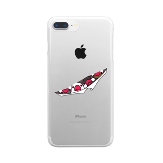 三密です!むちむちフィンチさん【まめるりはことり】 Clear smartphone cases