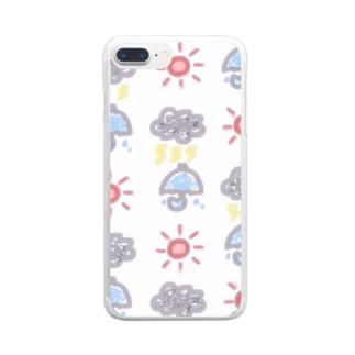 天気いっぱい Clear smartphone cases
