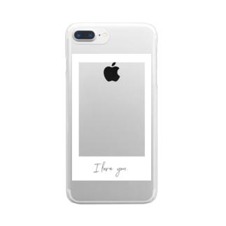 推しを挟め!チェキ風!! Clear smartphone cases