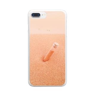 サハラ砂漠の小瓶【モロッコ】 Clear smartphone cases