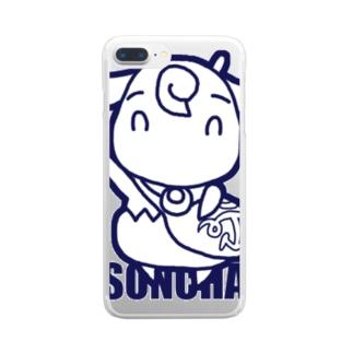 アオヤギゆーびん屋さん Clear smartphone cases