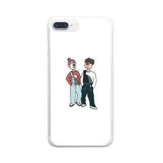 オーバーオールプリティー Clear smartphone cases