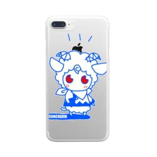 ヒツジのメルメル Clear smartphone cases