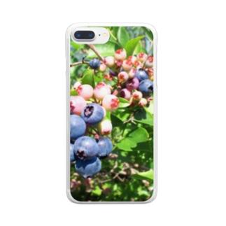 ブルーベリー① Clear smartphone cases