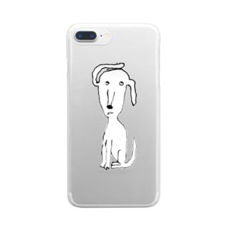 耳めくれてる Clear smartphone cases