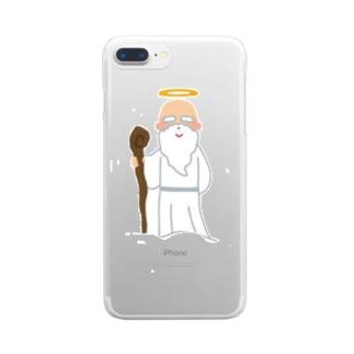 トイレの神様 Clear smartphone cases
