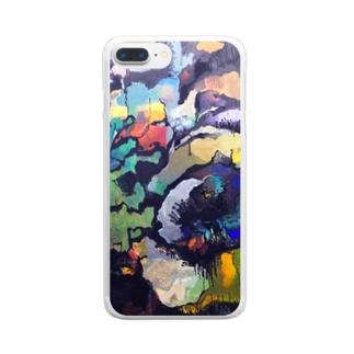 石の花 Clear smartphone cases