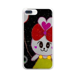 aikuのはぴっとちゃん Clear smartphone cases