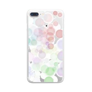 ポワポワ Clear smartphone cases