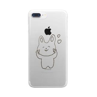 うさぎのぷぅちゃん🐰 Clear smartphone cases