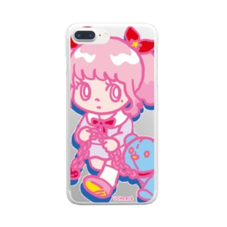 ONNANOKO【Pink】 Clear smartphone cases
