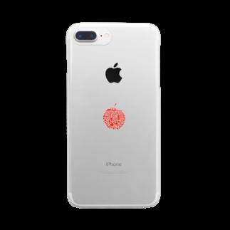 十円ショップのりんご Clear smartphone cases