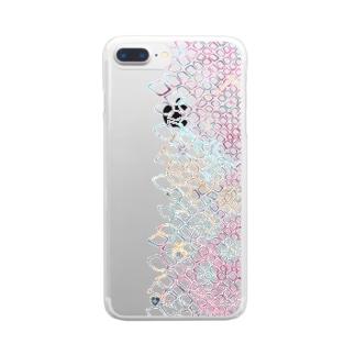 鱗\ビビッド Clear smartphone cases