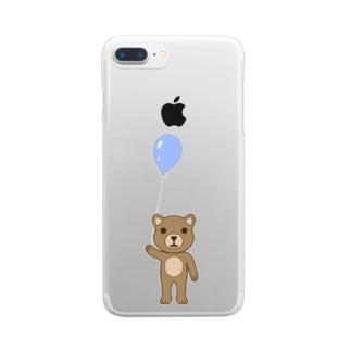 クマ Clear smartphone cases
