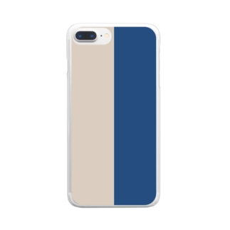 classic blue × sand dollar Clear smartphone cases