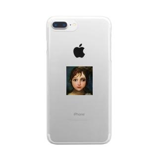 ℳ.画伯 Clear smartphone cases