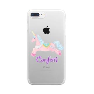ユニコーン&YOU Clear smartphone cases