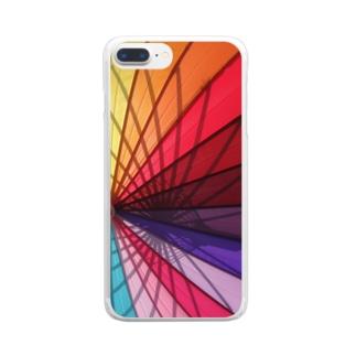 Colorful Umbrella Clear smartphone cases