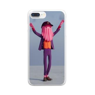 踊るルパート・カラマリ Clear Smartphone Case