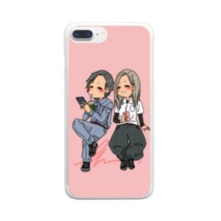 現場人カップル Clear smartphone cases