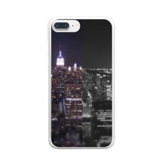 ミッドタウン ナイトビュー Clear smartphone cases