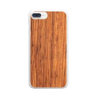 木目調のウッディーなシンプルスマホケース⑧ Clear smartphone cases