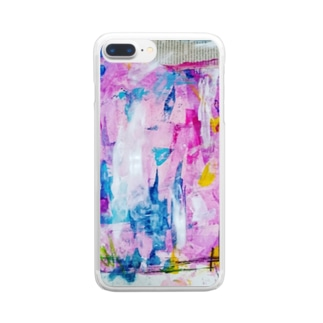 abstracted clouds  Clear smartphone cases