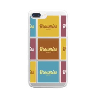 Brownies Worksカラフルロゴ Clear smartphone cases