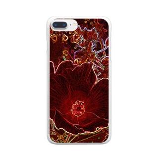 芙蓉 DATA_P_154 Confederate Rose ハスの花の古名 Clear smartphone cases