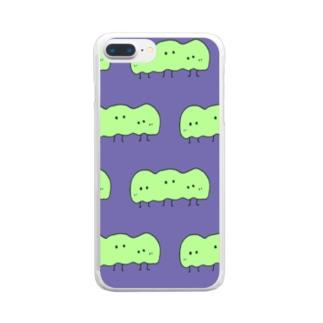 ぬのちゃんズ_豆ちゃん兄弟 Clear smartphone cases