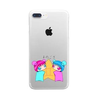 星座 双子座 Clear smartphone cases