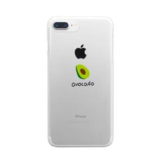 アボカド Clear smartphone cases